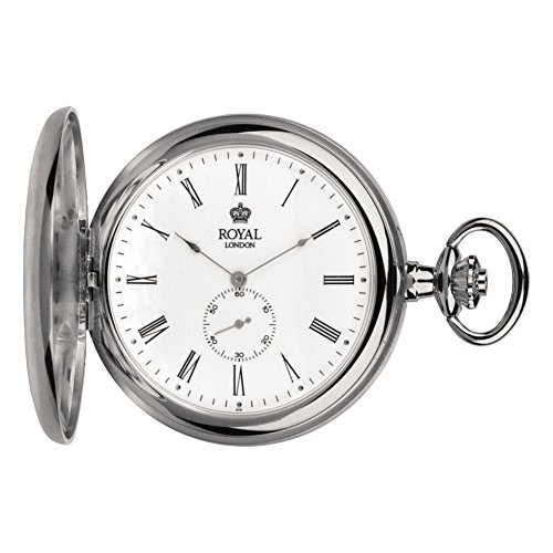Pvd Plated Full Hunter Quartz Pocket Watch