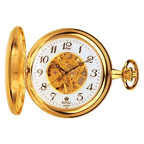 Royal London 90004-01 Mens Mechanical Pocket Watch