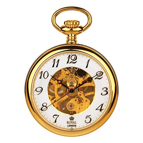 Royal London 90002-02 Mens Mechanical Pocket Watch