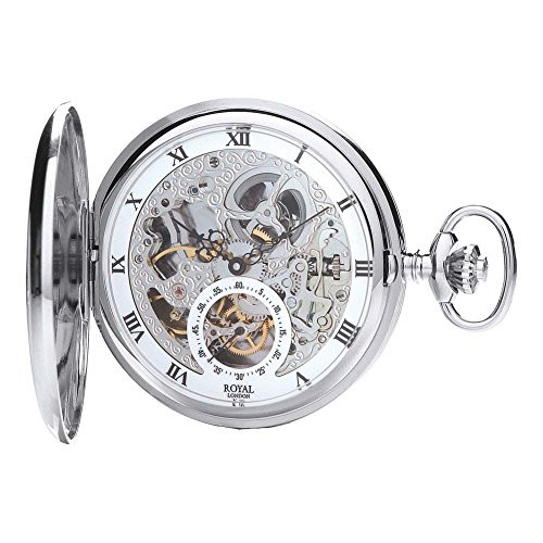 Royal London 90028-01 Mens Mechanical Pocket Watch