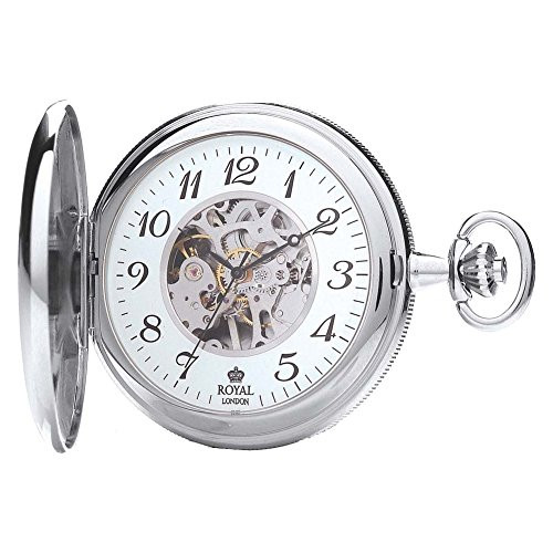 Royal London 90004-02 Mens Mechanical Pocket Watch