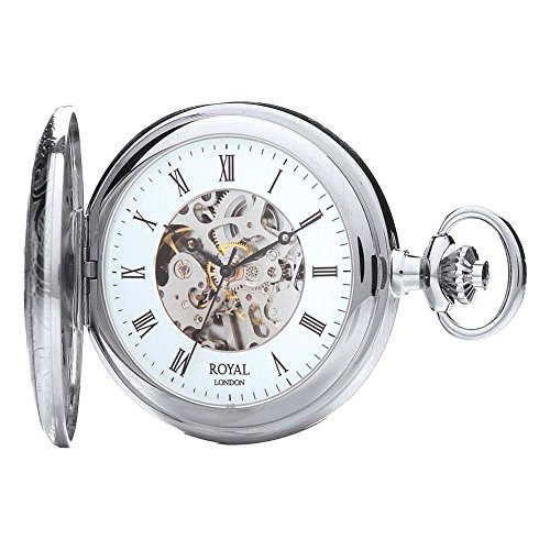 Royal London 90009-02 Mens Mechanical Pocket Watch