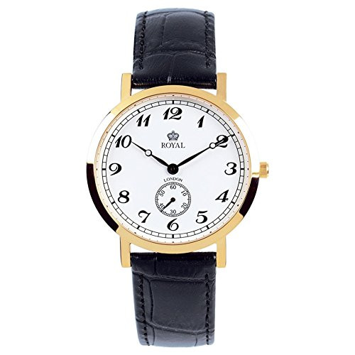 Royal London 40006-03 Mens Classic Black and Gold Watch