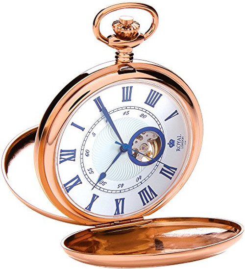 Royal London Men's Stainless Steel Mechanical Pocket Watch 90051-03