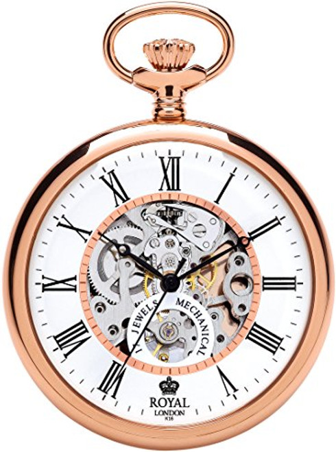 Royal London Men's Stainless Steel Mechanical Pocket Watch 90049-03