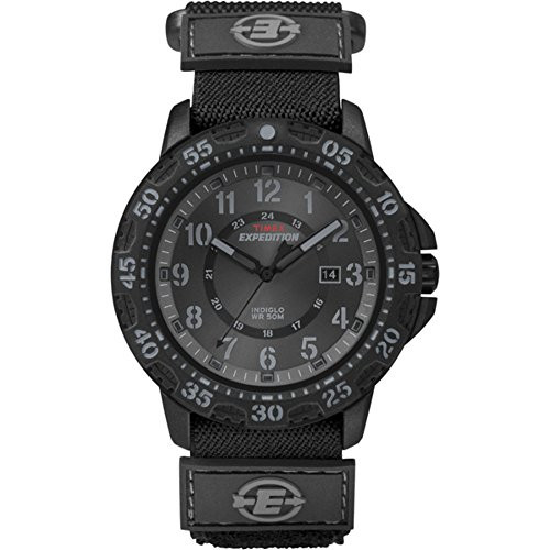 Timex Expedition Men's Quartz Watch with Black Dial Analogue Display and Black Fabric Strap T49997