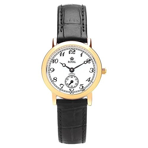 Royal London 20006-03 Ladies Classic Black and Gold Watch