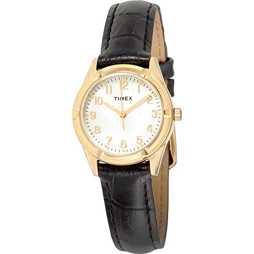 Timex Ladies TW2P76200 Wms Easton Ave. Rd GT case/Mother of pearl dial - Black croco strap