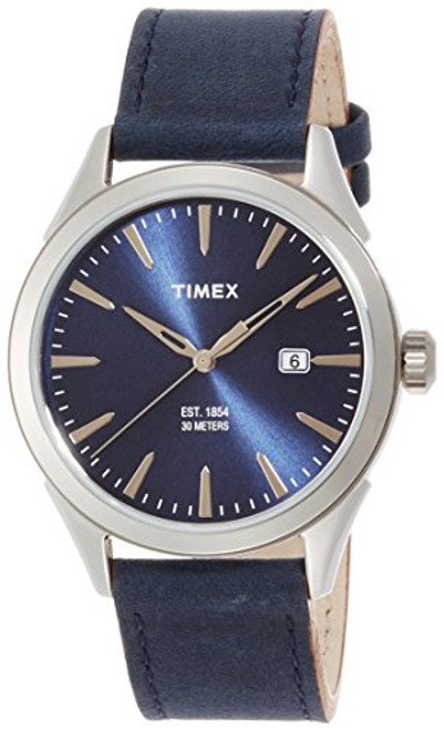 Timex Mens TW2P77400 MNS CHESAPEAKE SILVERTONE BLU STRAP AND DIAL GOLDTONE ACCENTS