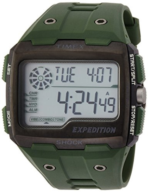 Timex Mens TW4B02600 EXPEDITION GRID SHOCK GREEN