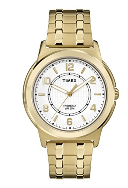 Timex Style TW2P62000 Men's GT Rd Case / Silver White Dial / SS  GT Expansion Band  Indiglo - Night Light