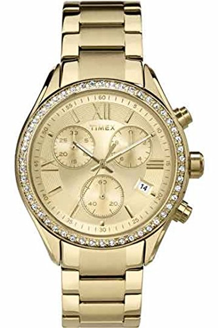 Timex Style TW2P66900 Women's chrono GT case with crystal accents and a GT bracelet  Indiglo - Night Light