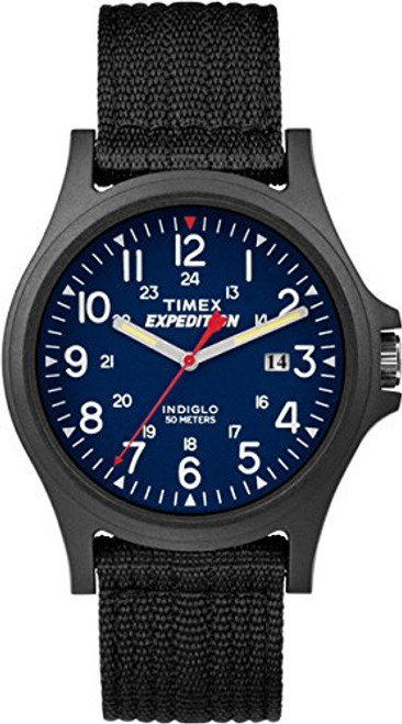 Timex Expedition TW4999900 EXPEDITION ACADIA BLUE DIAL BLACK STRAP  Indiglo - Night Light