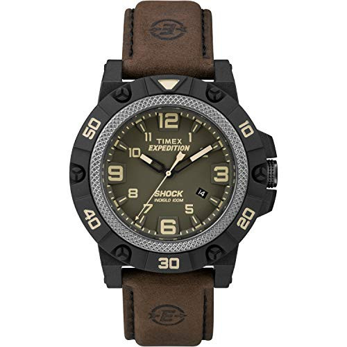 Timex Expedition TW4B01200 Field Shock Resistant Black Dial Blue Strap  Indiglo - Night Light