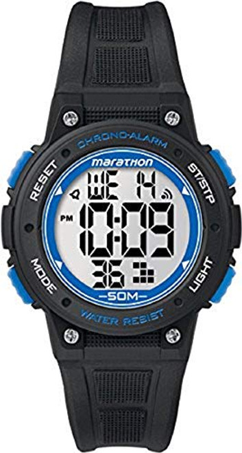 Timex Marathon TW5K84800 MARATHON DIGITAL MID BLACK/BLUE RSN  Indiglo - Night Light