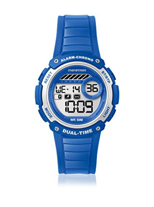 Timex Marathon TW5K85000 MARATHON DIGITAL MID BLUE RSN  Indiglo Night Light