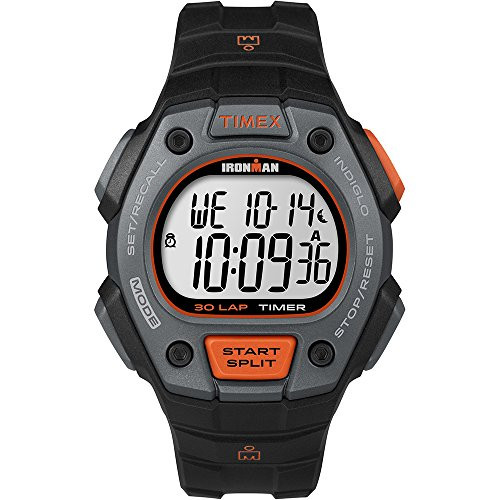 Timex Mens IRONMAN CLASSIC 30 LAP FULL BLACK/ORANGE TW5K90900