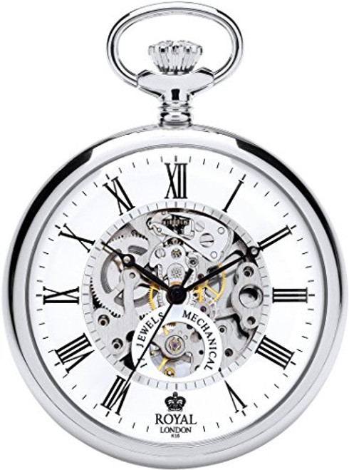 Royal London Pocket Watch C 90049-01  Stainless Steel, Mechanical