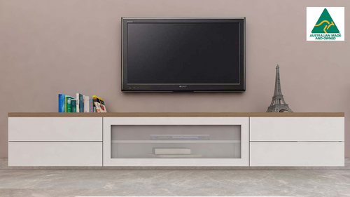Melbourne Floating Wood Top TV Wall Unit
