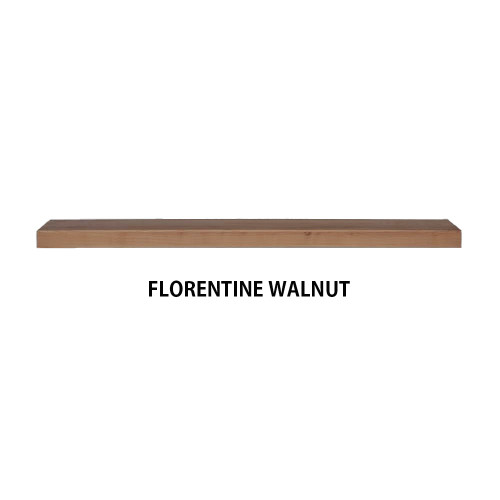 FLORENTINE WALNUT Wood Floating shelf
