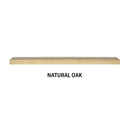 NATURAL OAK Wood Floating shelf