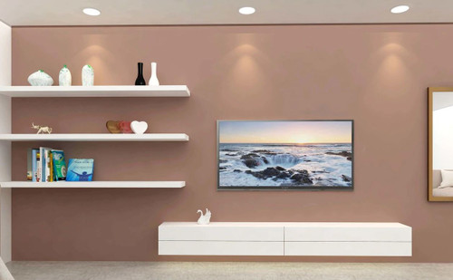 2M Canberra Floating TV Entertainment Unit in White Gloss ( FREE FREIGHT)