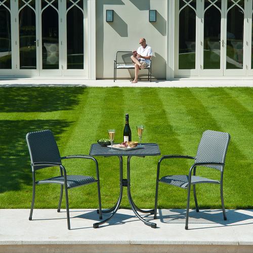 Alexander Rose Portofino Bistro Set With Square Bistro Table 0.7m x 0.7m