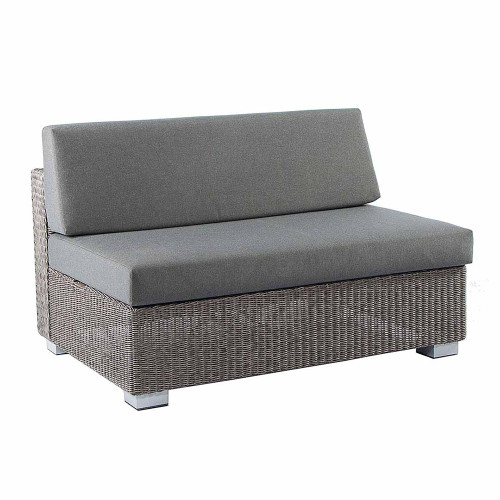Alexander Rose Monte Carlo Rattan 2 Seater Middle Sofa With Cushions