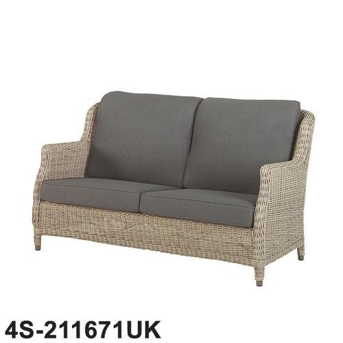 4 Seasons Outdoor - Brighton 2.5 Seater Rattan Sofa With 4 Cushions