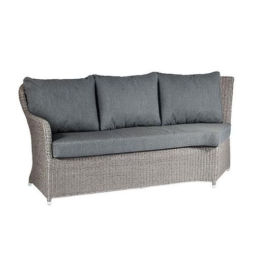 Alexander Rose Monte Carlo Rattan Double Right Hand Sofa Module & Cushions