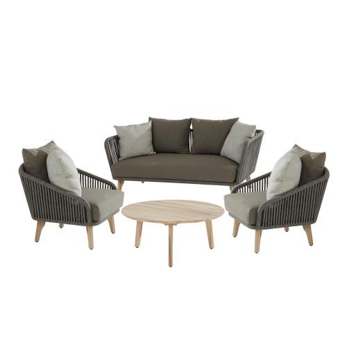 4 Seasons Outdoor - Santander 4 Piece Rope Sofa Set