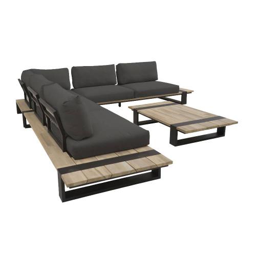 4 Seasons Outdoor - Duke 4 Piece Modular Corner Sofa Set