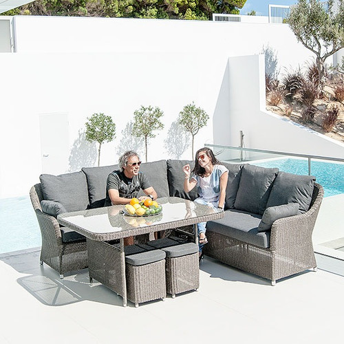 Alexander Rose Monte Carlo Casual Rattan Dining Set With Cushions