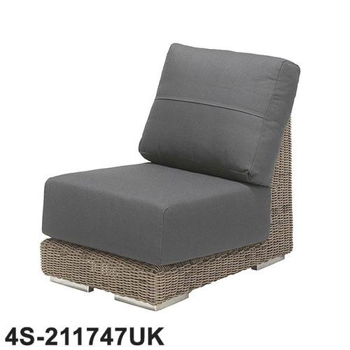 4 Seasons - Kingston Rattan Modular Sofa Centre With 2 Cushions - Pure