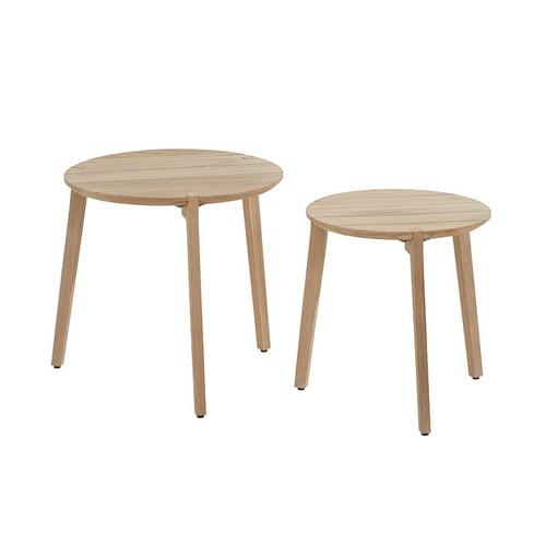 4 Seasons Outdoor - Gabor Coffee table Set of 2 teak 45 & 55cm Teak Legs