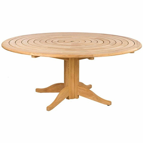AR Roble Bengal Pedestal Garden Table With Integral Lazy Susan, 1.75MØ