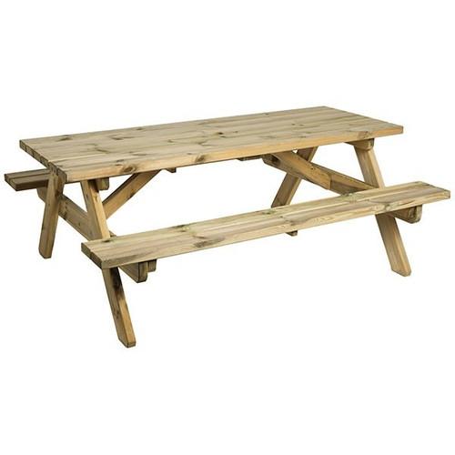 Alexander Rose Pine Heavy Duty Garden Table 6ft