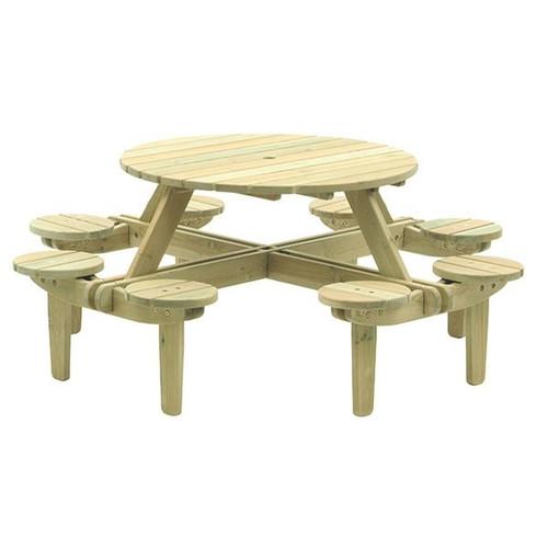 Alexander Rose Pine Gleneagles Picnic Table 8 Seater 1.88MØ