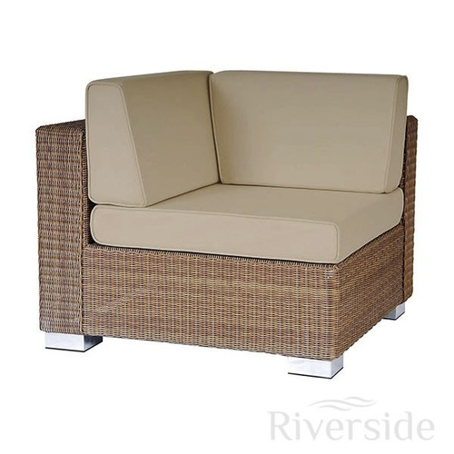Alexander Rose San Marino Corner Piece Rattan Sofa With Oatmeal Cushions