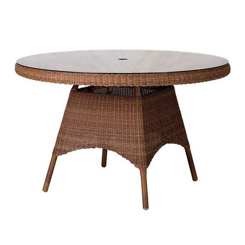Alexander Rose San Marino Rattan Garden Glass Top Table 1.2m