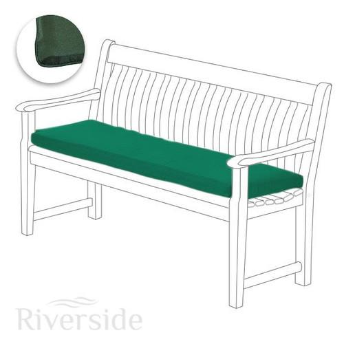 Alexander Rose Polyester 5ft Bench Cushion - Green
