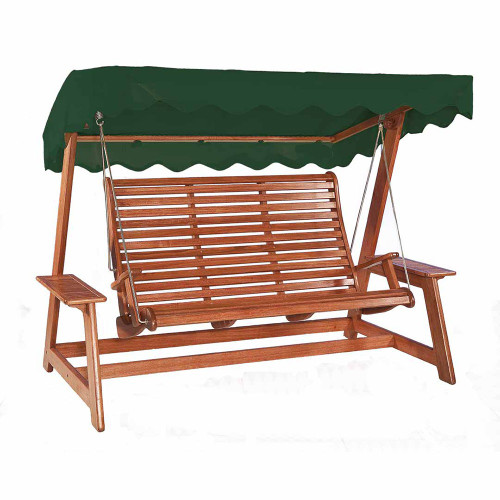 Alexander Rose Mahogany Swing Seat With Canopy, Green