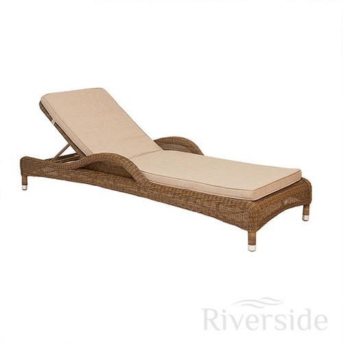 Alexander Rose San Marino Rattan Sun Lounger With Oatmeal Cushion