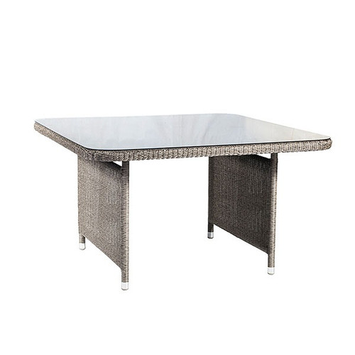 Alexander Rose Monte Carlo Rattan Dining Table With Glass, 1.3m x 1.3m