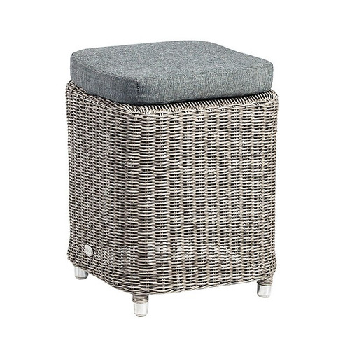 Alexander Rose Square Monte Carlo Rattan Dining Stool With Cushion
