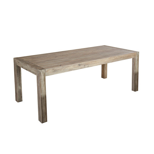 Alexander Rose Old England Acacia Distressed Grey Painted Table, 2m
