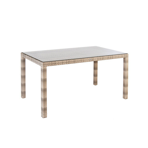 Alexander Rose Ocean Pearl Table With Glass, 1.35m x 0.8m