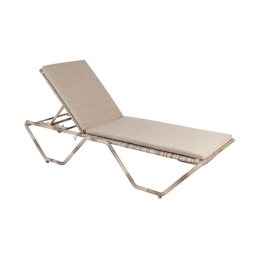 Alexander Rose Ocean Pearl Stacking Sunbed With Cushion