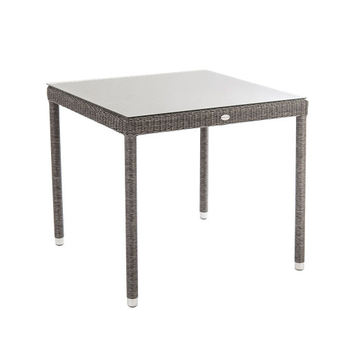 Alexander Rose Monte Carlo Table With Glass, 0.8m x 0.8m