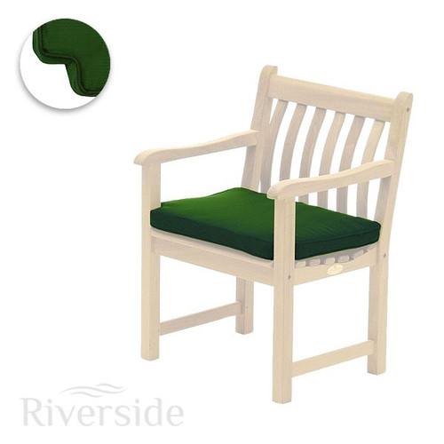Alexander Rose Olefin Armchair Cushion, Green